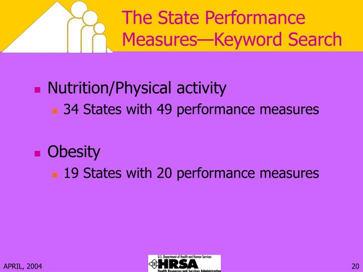 The State Performance Measures—Keyword Search