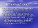 rapid change in programs1