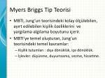 myers briggs tip teorisi