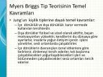 myers briggs tip teorisinin temel kavramlar