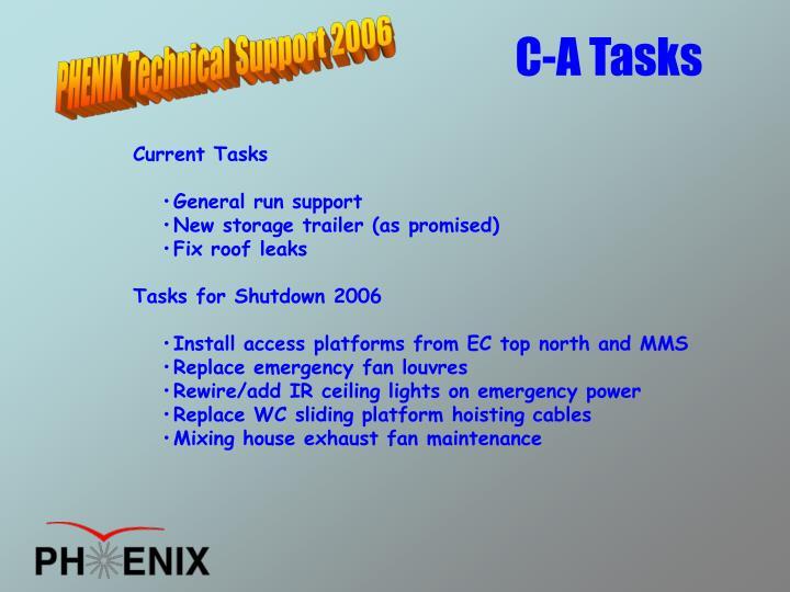 C-A Tasks
