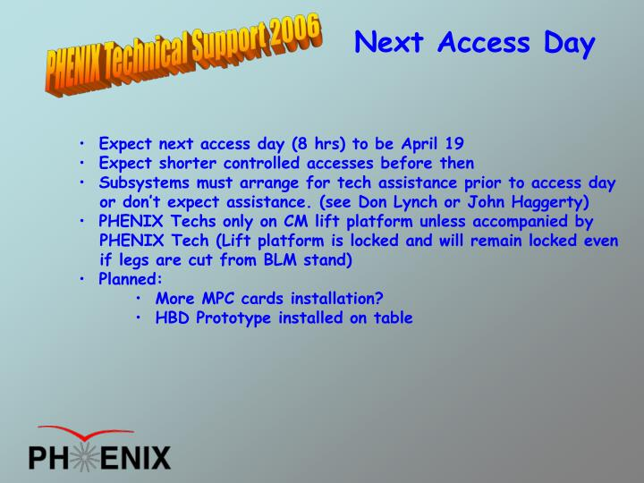 Next Access Day