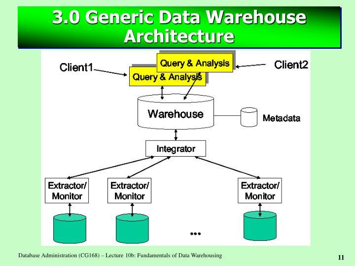 3.0 Generic Data Warehouse