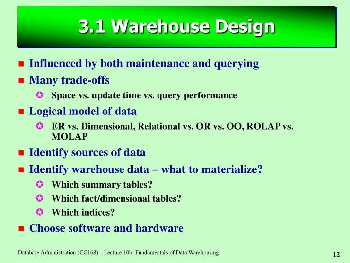 3.1 Warehouse Design
