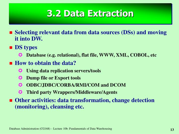 3.2 Data Extraction