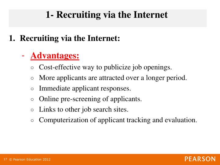 1- Recruiting via the Internet