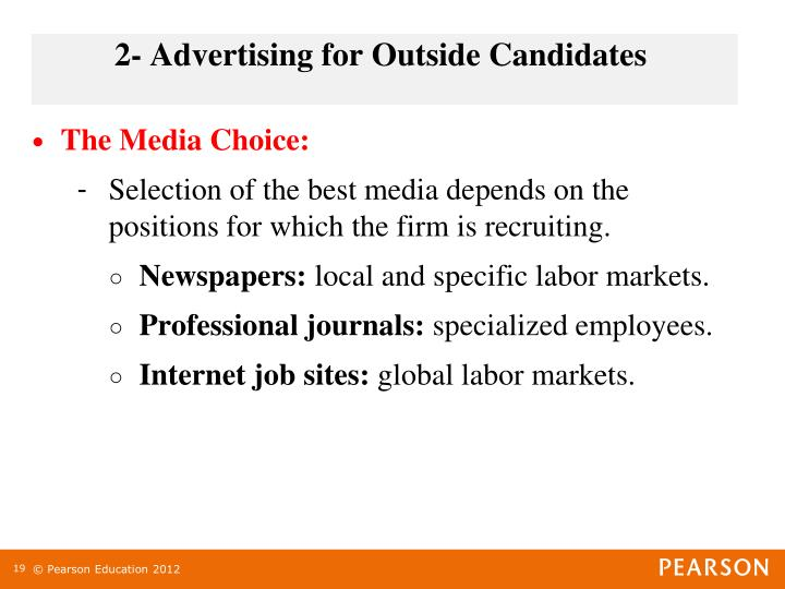 2- Advertising for Outside Candidates