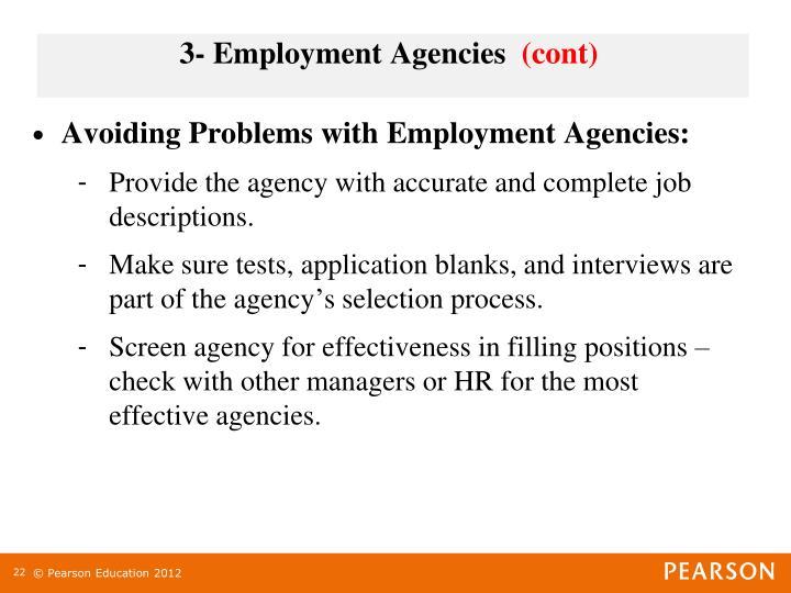 3- Employment Agencies
