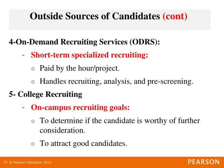 4-On-Demand Recruiting Services (ODRS):