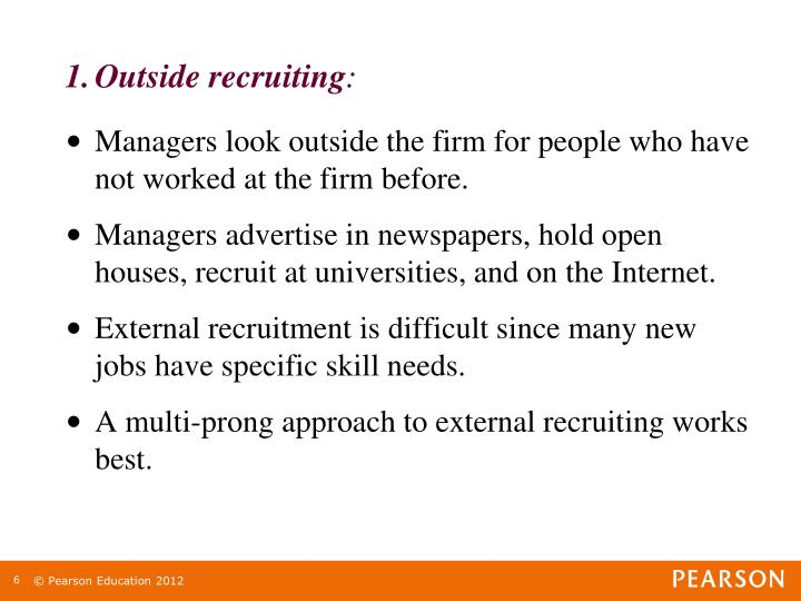 Outside recruiting