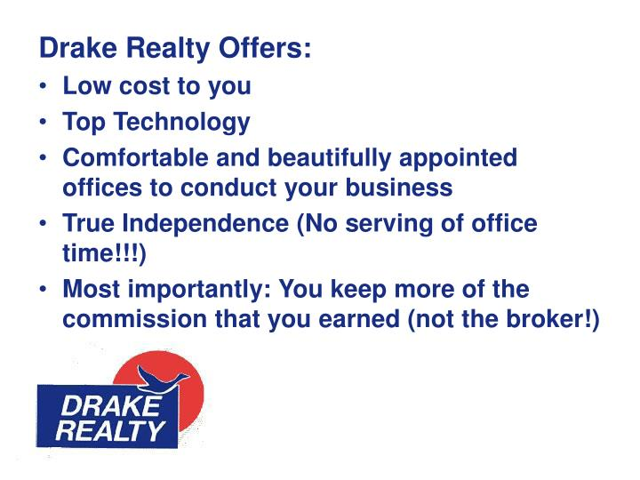 Drake Realty Offers:
