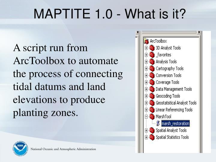 MAPTITE 1.0