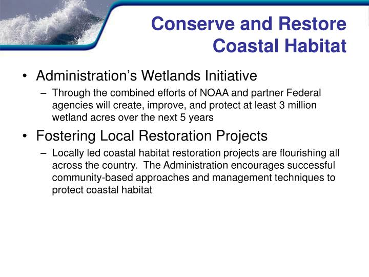 Conserve and Restore