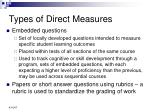 types of direct measures