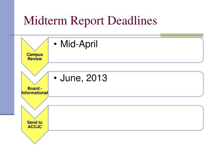 Midterm Report Deadlines