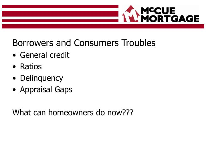 Borrowers and Consumers Troubles