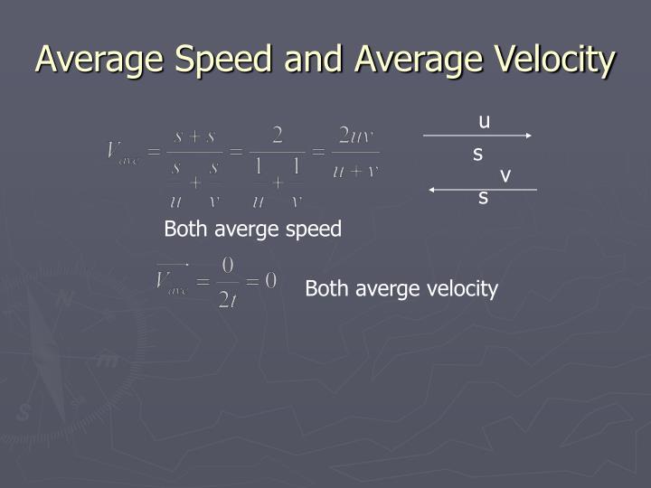 Average Speed and Average Velocity