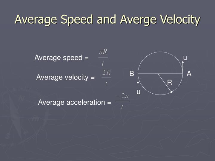Average Speed and Averge Velocity