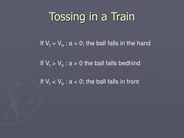 Tossing in a Train