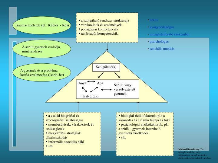 a szolgáltató rendszer struktúrája