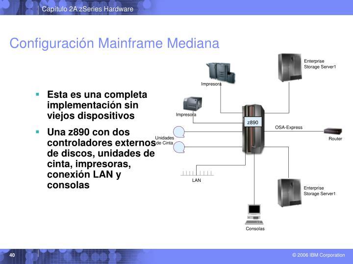 Configuración Mainframe Mediana