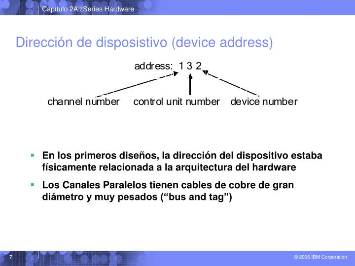 Dirección de disposistivo (device address)