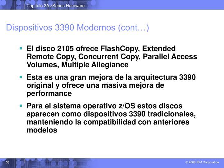 Dispositivos 3390 Modernos (cont…)