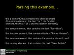 parsing this example