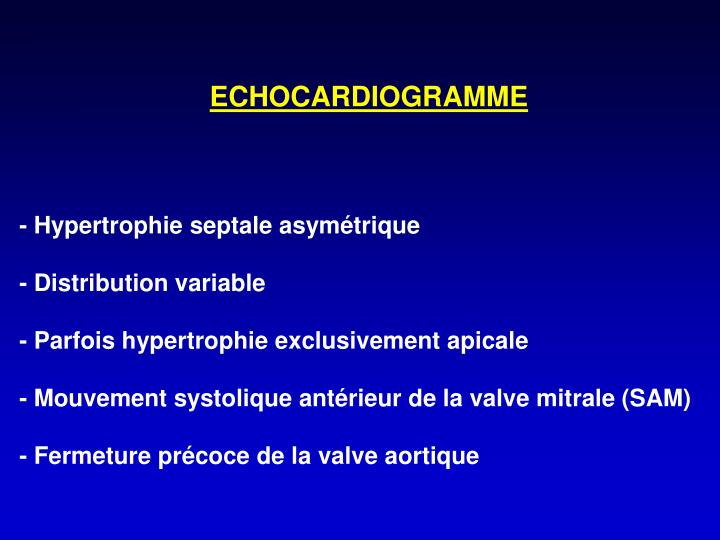 ECHOCARDIOGRAMME