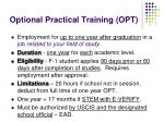 optional practical training opt