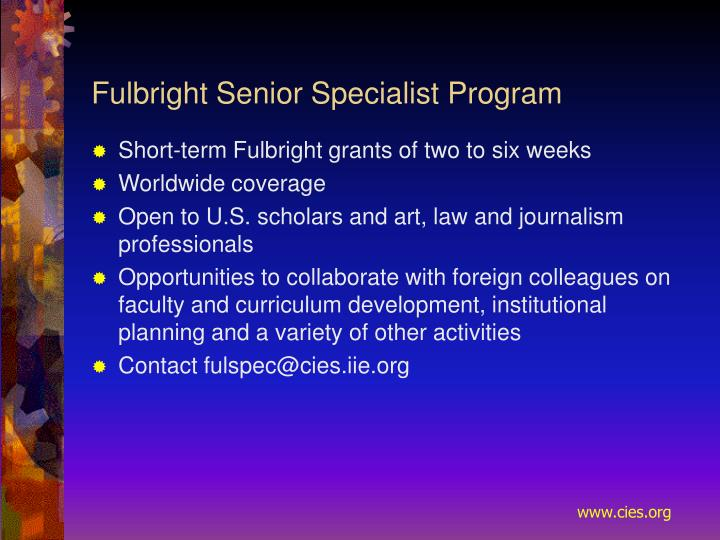 Fulbright Senior Specialist Program