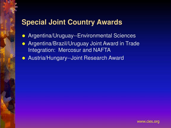 Special Joint Country Awards