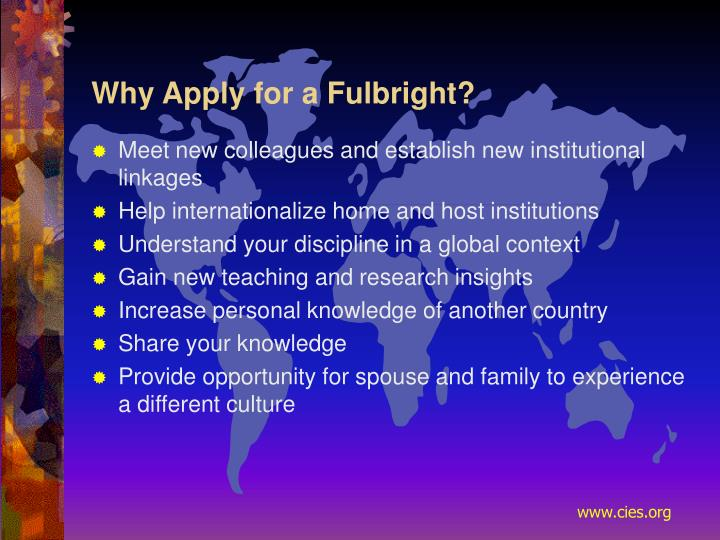 Why Apply for a Fulbright?