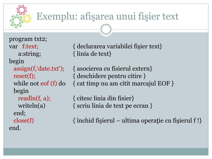 Exemplu: afi