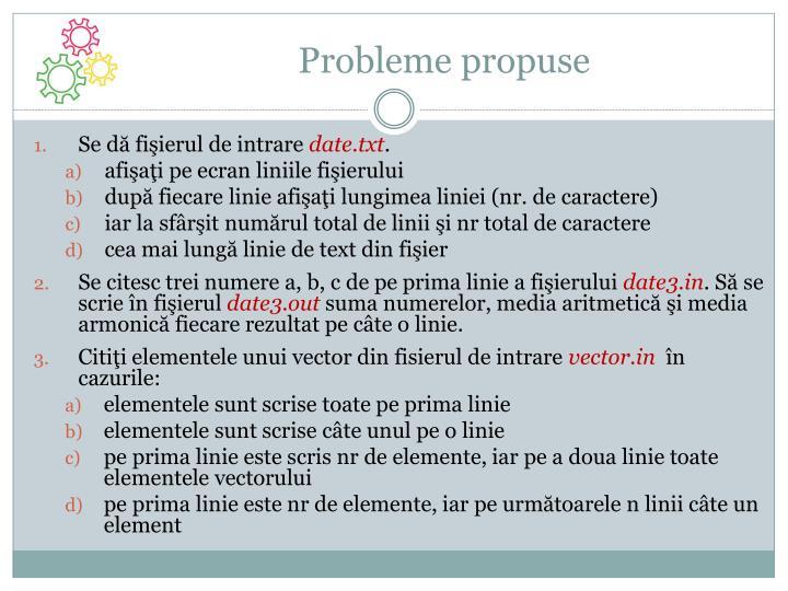 Probleme propuse