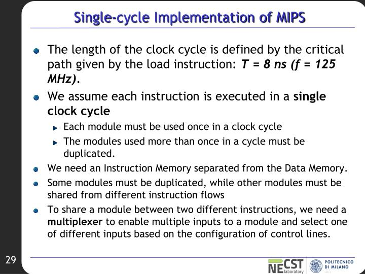 Single-cycle Implementation of MIPS