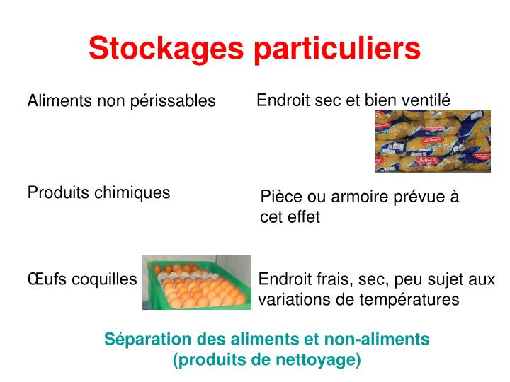 Stockages particuliers