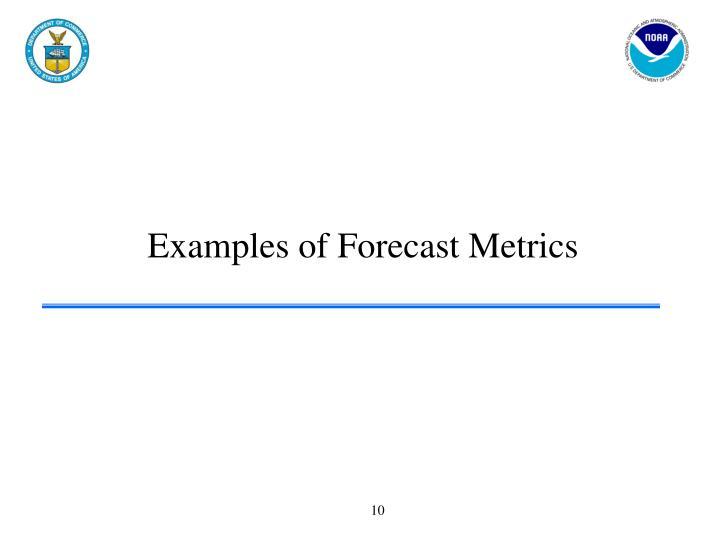 Examples of Forecast Metrics