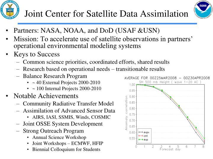 Joint Center for Satellite Data Assimilation