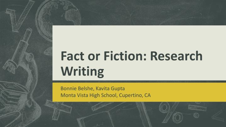 fact or fiction research writing n.