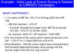 example initial look at events during related to cawses campaigns