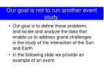 our goal is not to run another event study