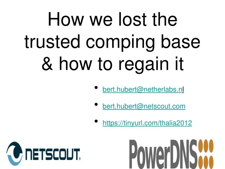how we lost the trusted comping base how to regain it n.