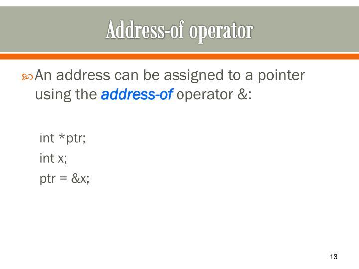 Address-of operator