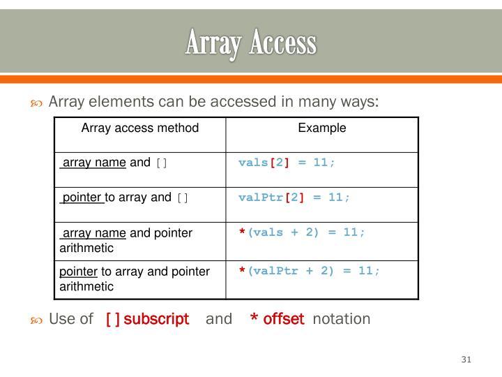 Array Access