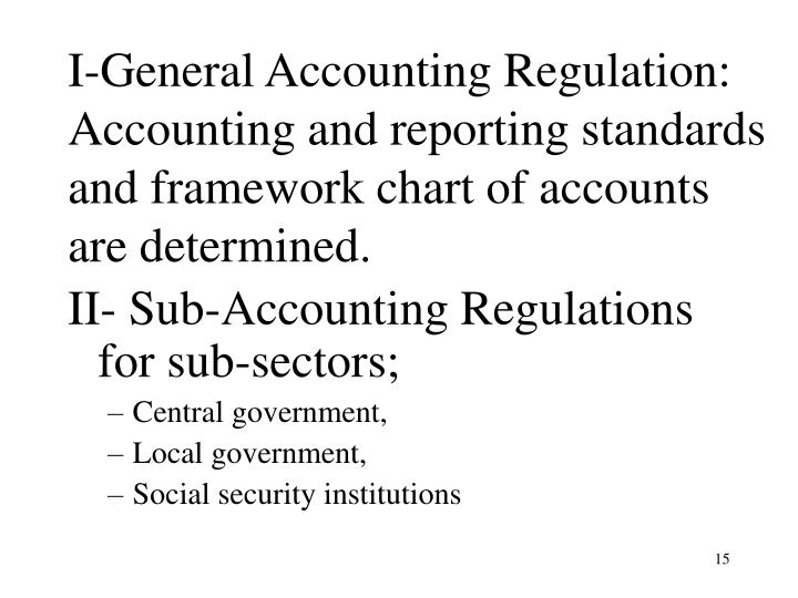 I-General Accounting Regulation:
