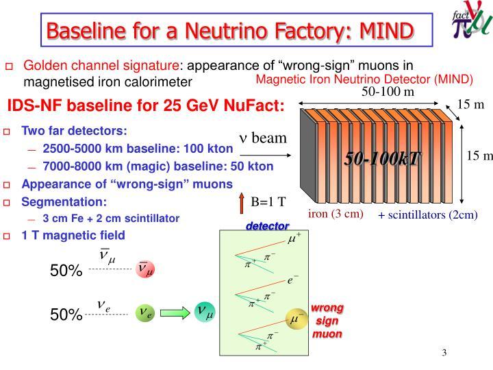 Baseline for a neutrino factory mind