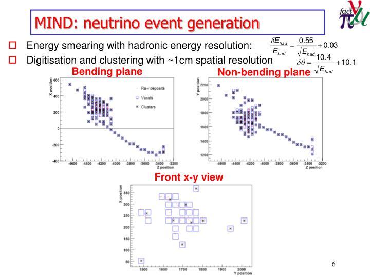 MIND: neutrino event generation