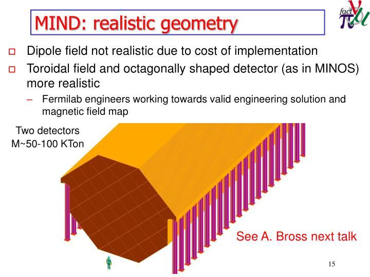 MIND: realistic geometry