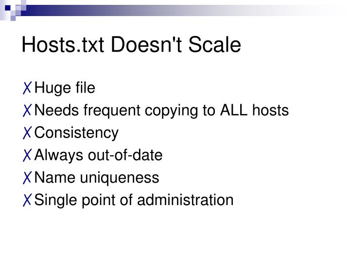 Hosts.txt Doesn't Scale